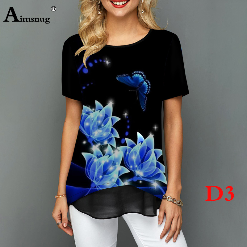 H0bb7cff6d4f34c92beb1c8ec28cd4011F - Plus size 4xl 5xl Women Fashion Print Tops Round Neck Short Sleeve Boho Tee shirts New Summer Female Casual Loose T-shirt