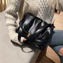Vintage Pleated Tote Bag 2019 Fashion New High Quality PU Leather Women's Design