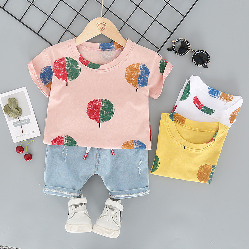 New Style Children's Short Sleeved Two-Piece Set L4.19 5