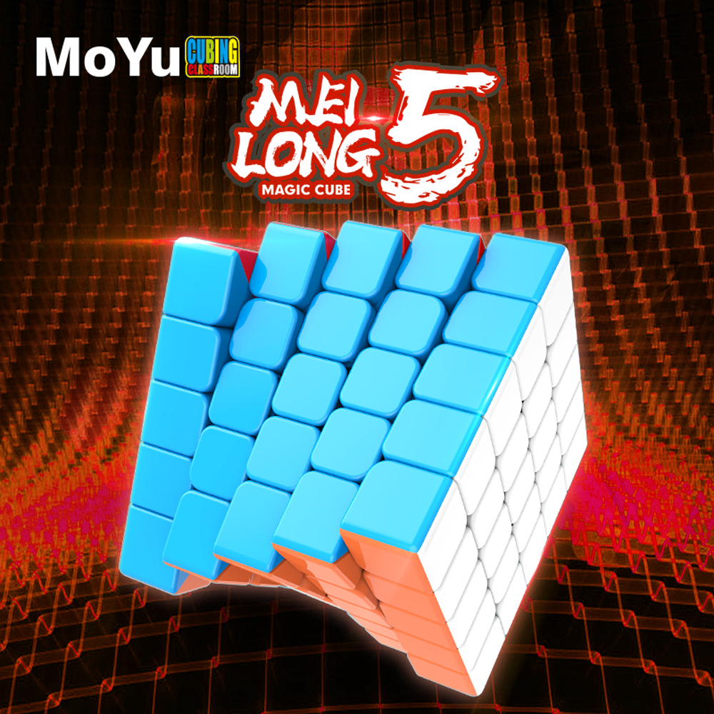 MoYu Cubing Classroom Meilong 5x5x5 Magic Speed Cube Stickerless Professional 5x5 Puzzle Cubes Educational Toys For Children