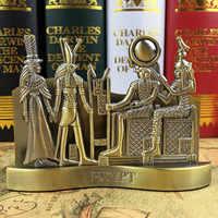 European Retro Egypt Pharaoh Art Sculpture Iconic Building Statue Figurine Metal Crafts Decorations For Home R3730