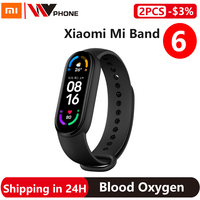 Xiaomi Mi Band 6 Smart Bracelet 5 Color AMOLED Screen Miband 6 Blood Oxygen Fitness Traker Bluetooth Waterproof Smart Band 1