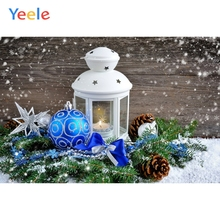 Yeele Christmas Party Photocall Candles Snow BallsPhotography Backdrops Personalized Photographic Backgrounds For Photo Studio