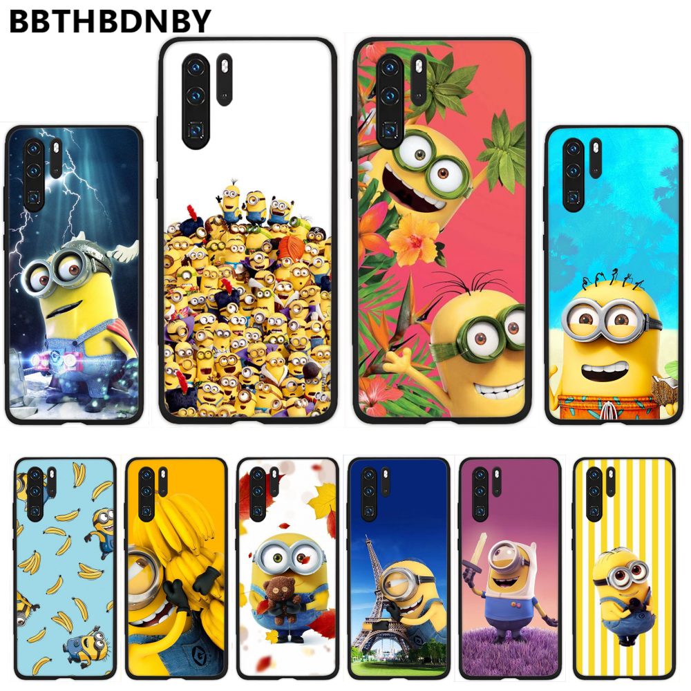 Despicable Me Minions Coque Shell โทรศัพท์สำหรับ Huawei P9 P10 P20 P30 Pro Lite สมาร์ท Mate 10 Lite 20 y5 Y6 Y7 2018 2019