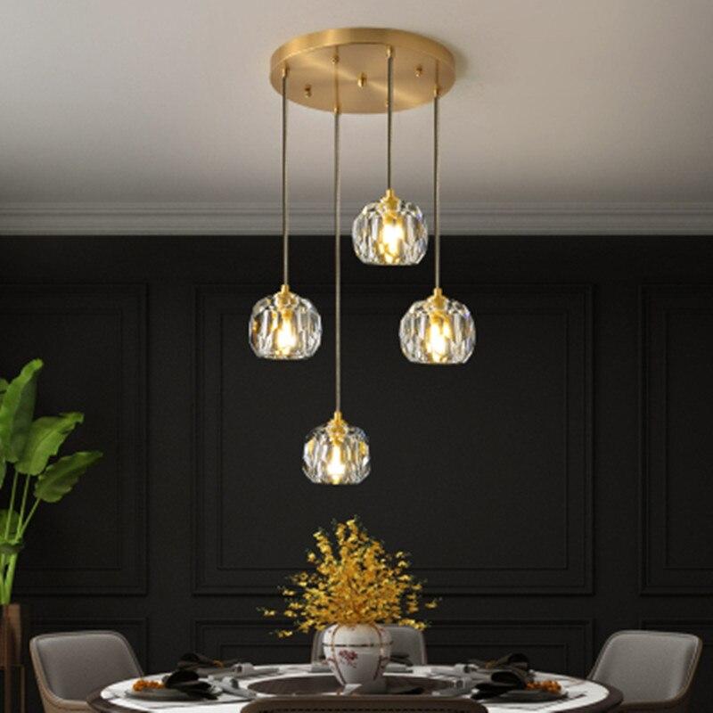 Luxury Crystal Ball Led Chandelier Lighting Decorative Chandelier G9 Led For Living Room Indoor Lights Fixture Hanging Lamps