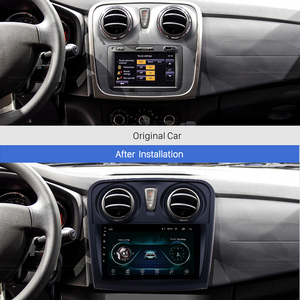 Для Renault Dacia Sandero 2012-2017 2 din Android 9,1 9 дюймов Автомобильный мультимедийный плеер WIFI FM задняя камера