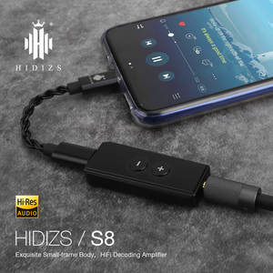 Image 2 - Hidizs S8 אוזניות מגבר HiFi פענוח USB סוג C DAC כדי 3.5MM מתאם שוכר DAC Amp עבור טלפונים/מחשב נייד אודיו החוצה