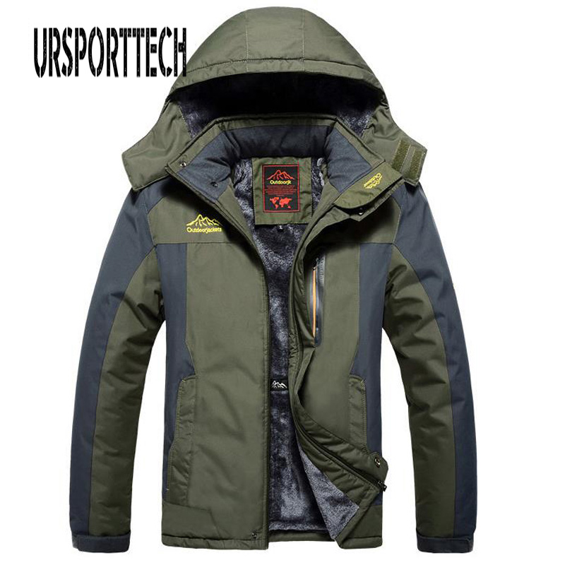 Winter Fleece Military Jackets Men Windproof Waterproof Outwear Parka Mens Windbreaker Warm Raincoat Coat Oversize 9XL Overcoat