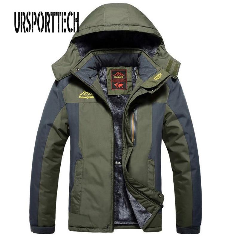 Winter Fleece Military Jackets Men Windproof Waterproof Outwear Parka Mens Windbreaker Warm Raincoat Coat Oversize 9XL Overcoat