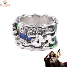 Hot Fiction Fights Break Sphere Xiao Yan with the soul of ring male tie finger dual-use retro luminous Natuan
