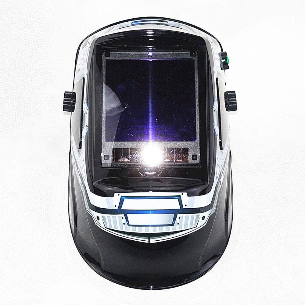 Máscara de soldar con pantalla de oscurecimiento automático y 3 ventanas de visión