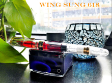 2019 Wing Sung 618 Transparent Demonstrator Piston Fountain Pen Fine golden clip Ink are not including