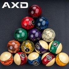AXD Design – Billes de billard,set en résine, accessoire professionnel pour snooker, avec motif marbre idéal en cadeau, 57,2 mm, 16 pièces,