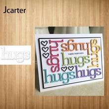 Cutting-Dies Knife Stencils Letters-Craft Scrapbooking Hugs Metal Punch Handmade