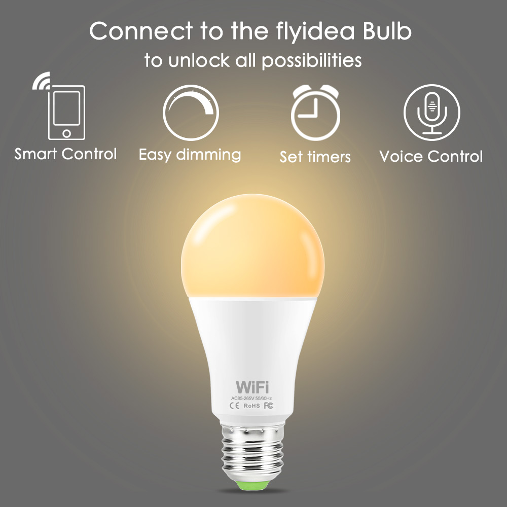 E27 B22 LED Bulb To Unlock All Possibilities Smart Control Easy Dimming Set Timers Voice Control WiFi AC85-265V Home Lighting
