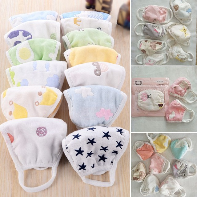 Children Kids Masks Cotton 6 Layers Of Gauze To Keep Warm Anti-Dust Windproof Mouth-muffle bacteria proof Flu Face safely
