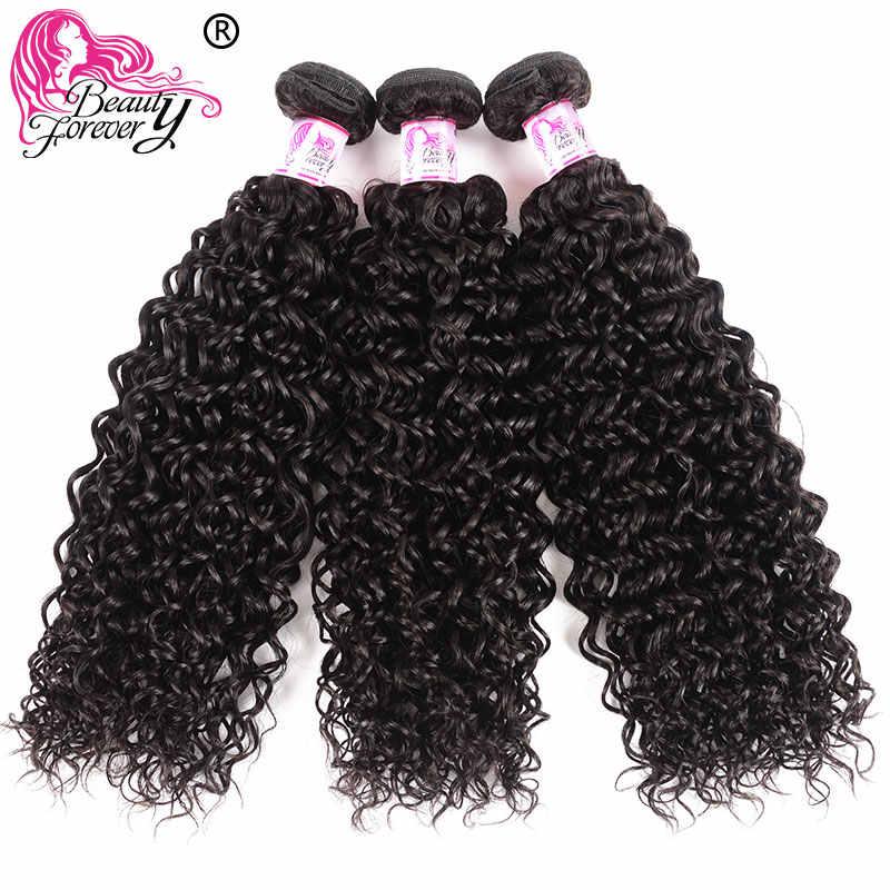 Beauty Blijvend Maleisische Krullend Menselijk Haar Bundels Met Sluiting 4*4 Sluiting Gratis/Midden/Three Part 100% remy Hair Extension