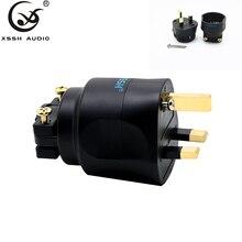 1pcs 2pcs XSSH audio HiFi DIY Hi end Acoustic Sound System AC power EN electric plug 3 pin UK British plug fuse Connector