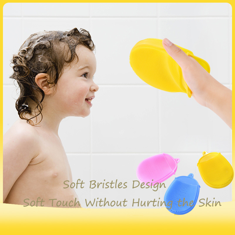 Bath Brushes Shower for Baby Comfortable Soft Silicone Brush Bath Accessories Baby Bath Glove Wash Clean Shower Massage for Kids