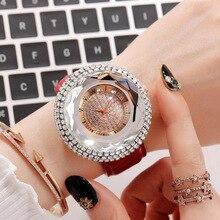 Popular Womens Watches Quartz Diamond Crystal