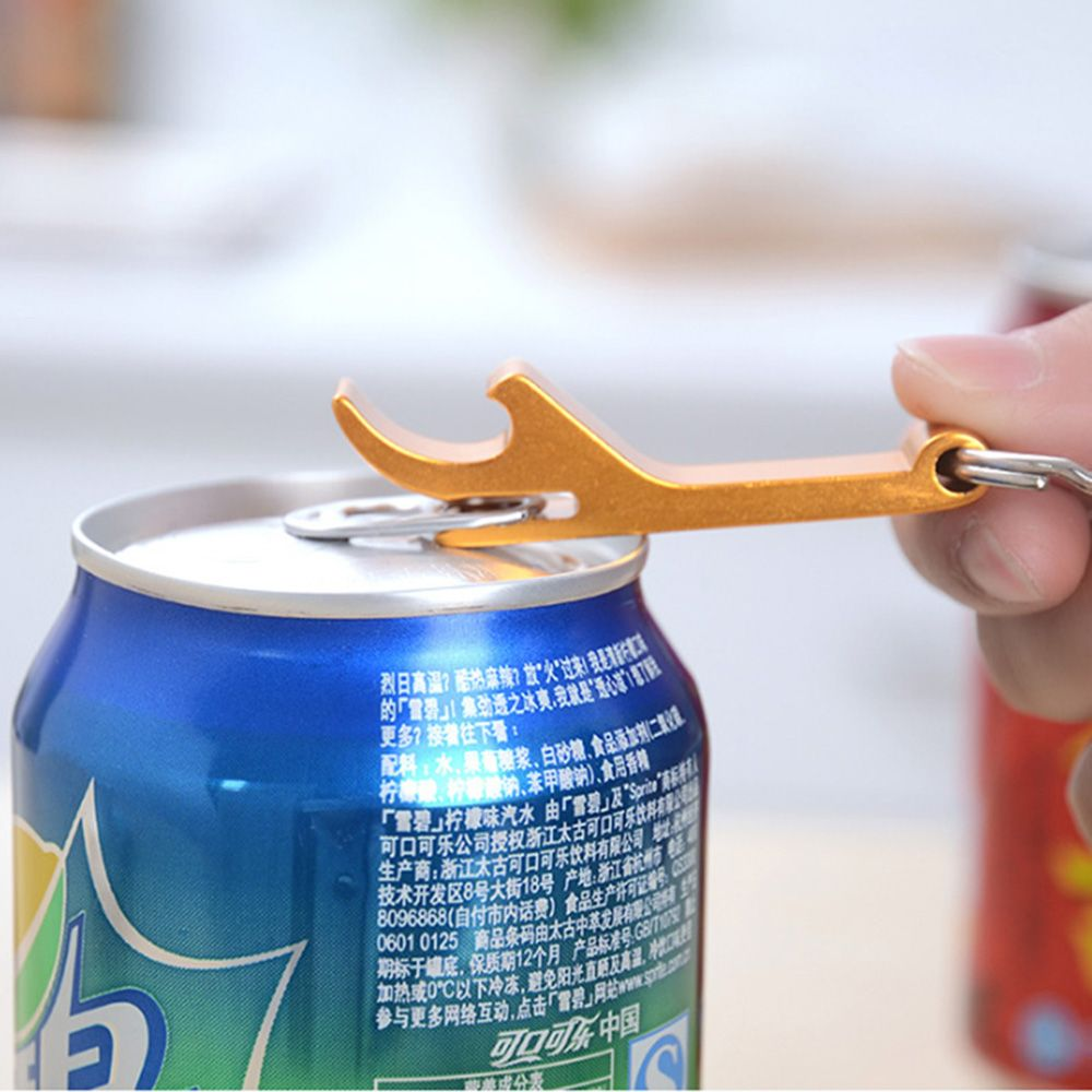Creative 4 In 1 Bottle Opener Beer Can Bottle Opener Portable Keychain Key Ring Party Wedding Favor Gifts Kitchen Bar Gadgets in Openers from Home Garden