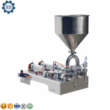 Professional food quality hopper Semi-Automatic Pneumatic liquid Paste cosmetic food filling machine(China)