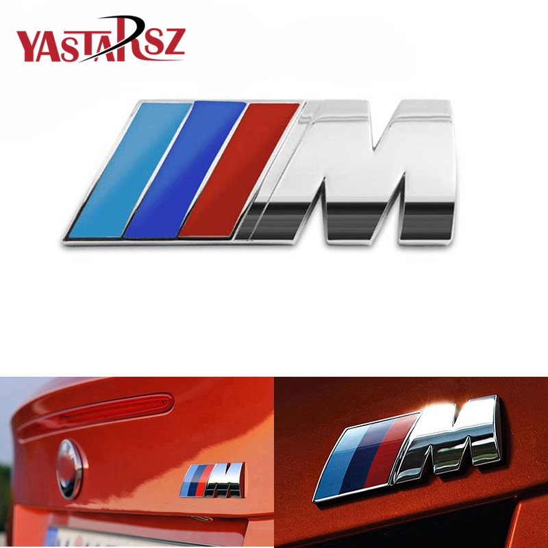 1pcs ABS Car Badge Emblem Sticker Labeling Car Body Sticker For BMW X1 X3 X5 E46 E90 BMW E39 E36 F20 E87 E92 E30 E91 Car Styling