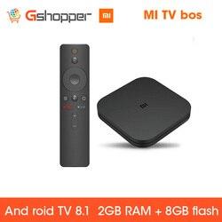 Globale Original Xiao mi mi BOX TV BOX S Neue Ankunft Android 8,0 2G/8G Smart Quad core HDR Film Set-top Box Multi-sprache