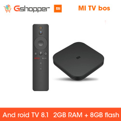 Original Global Xiao mi mi BOX TV BOX S nouveauté Android 8.0 2G/8G Smart Quad Core HDR décodeur de film multilingue
