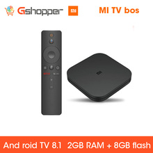 Globale Original Xiao mi mi BOX TV BOX S Neue Ankunft Android 8,0 2G/8G Smart Quad core HDR Film Set-top Box Multi-sprache