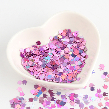 Nail Mermaid Glitter Flakes Sparkly Rabbit Shape Colorful Ultrathin Sequins Spangles For Manicure Nails Art Decoration Wholesale image