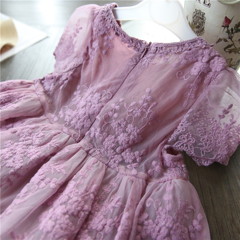 H0bb9c2bd85744a7ab47829fd4d99f608z Children Girls Embroidery Clothing Wedding Evening Flower Girl Dress Princess Party Pageant Lace tulle Gown Kid Girls Clothes