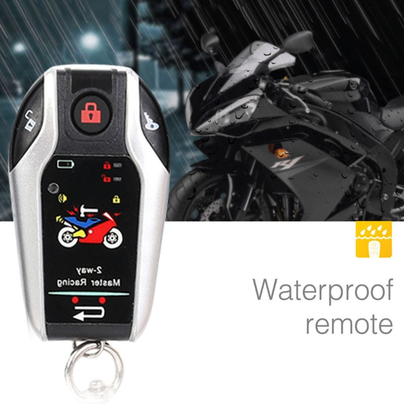 12V Two Way Motorcycle Alarm Anti theft Security System With Microwave Sensor U1JF