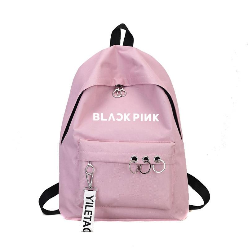Newest Blackpink Ullzang Backpack Bag Got7 Twice Monsta X Wanna One Stray Kids Schoolbag Txt Backpacks Gifts Sac A Dos Femme