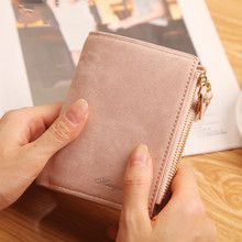 Fashion Top Quality Small Wallet PU Matte Leather Purse Short Female Coin Zipper Clutch Credit Card