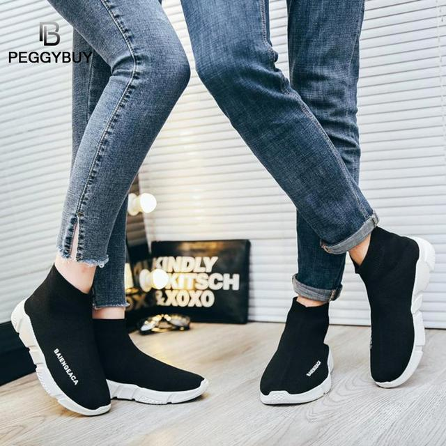 Fashion Sneakers Women Trainers Casual Slip On Socks Shoes Summer Women Vulcanized Shoe Sport Students Girl Ankle Boots Shoes 3