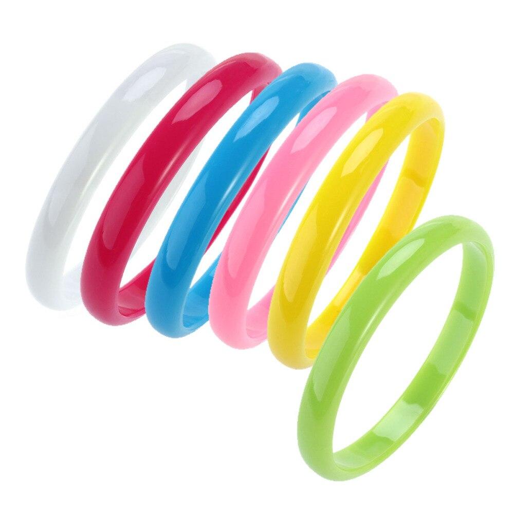 6 шт. модные пластиковые браслеты, браслет карамельных цветов для женщин и детей (случайные цвета)