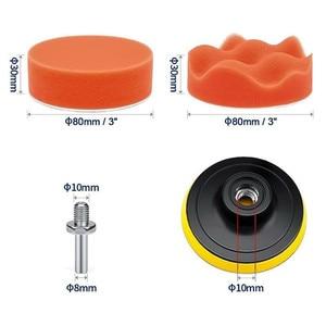 Image 2 - 11 Pcs/Set 3 Inch Buffing Sponge Polishing Pad Kit Set For Car Polisher Buffer Car Maintenance Accessories New C45