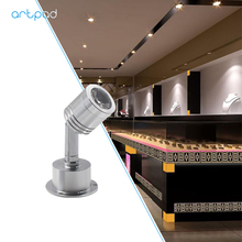 Artpad Led Jewelry Showcase Light Mounted Lamp Mini Spot light 3W Wine Cabinet Display Case Moving Head