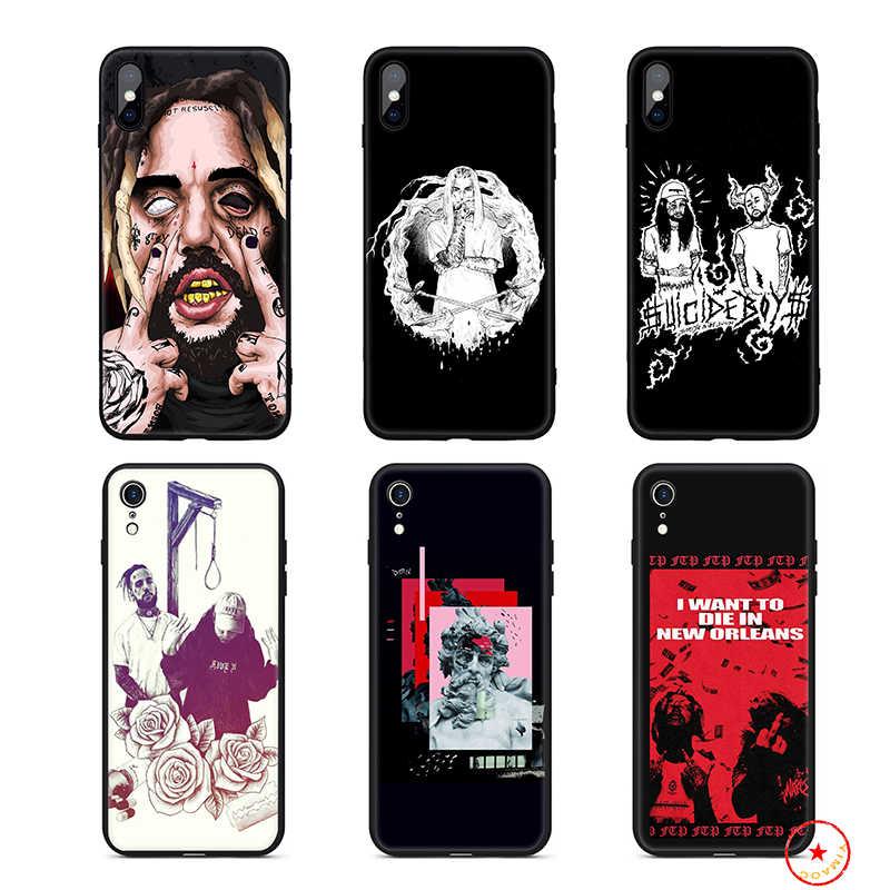 Samobójstwo chłopcy FTP miękkie silikonowe etui na telefony dla iPhone 11 Pro Xs Max X lub 10 8 7 6 6S Plus 5 5S SE Xr 6 Plus 7Plus 8 Plus okładka