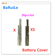 BaRuiLe 10 stücke Batterie FPC Flex Kabel abdeckung für iphone X XS Max XR inneren Metall Halterung Clip Halter Ersatz teile