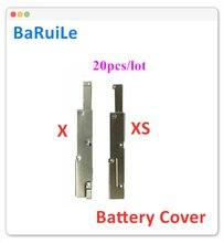 Baruile capa de cabo flexível para iphone, 20 peças de capa de suporte de metal interno para substituição de iphone x xs max xr peças