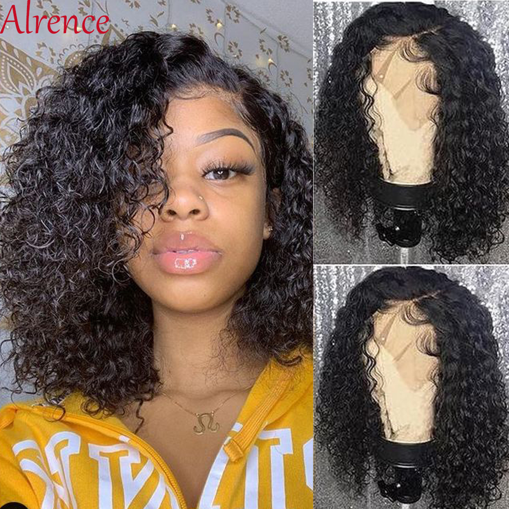 Glueless Bob Wig Short Curly Lace Front Human Hair Wigs For Black Women Pre Plucked Preplucked And Bleached Knots Lace Wig Remy