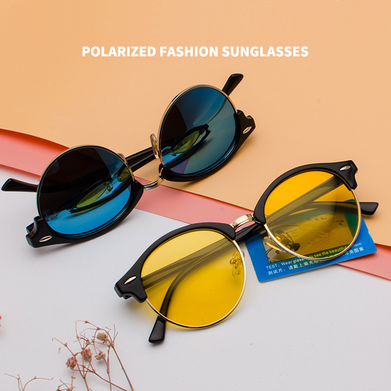 1-Мужские поляризованные солнцезащитные очки SIMPRECT, винтажные круглые солнцезащитные очки в стиле ретро 2020 с антибликовым покрытием смотреть на Алиэкспресс Иркутск в рублях