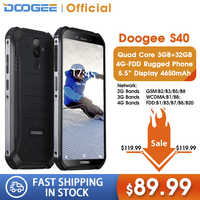 Upgrade 3GB + 32GB DOOGEE S40 MTK6739 Quad-Core-Android 9,0 4G Netzwerk Robuste Handy IP68 5,5 zoll Display 4650mAh 8,0 MP NFC