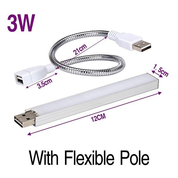 USB СВЕТОДИОДНЫЙ светильник для выращивания, полный спектр, 3 Вт, 5 Вт, DC, 5 В, фитолампия для теплицы, овощей, рассады, растение, светильник, ИК, УФ-лампа для выращивания, Фито - Испускаемый цвет: 3W with Pole