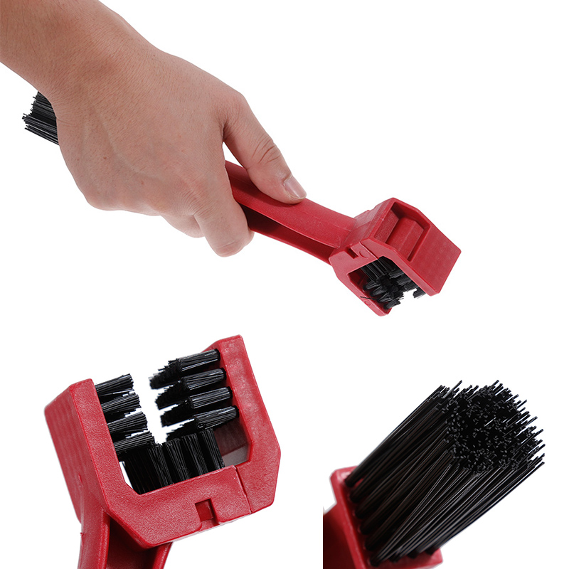 Cycling Bike  Chain Wheel Wash Cleaner Tool Cleaning Brushes Scrubber Set/_$T