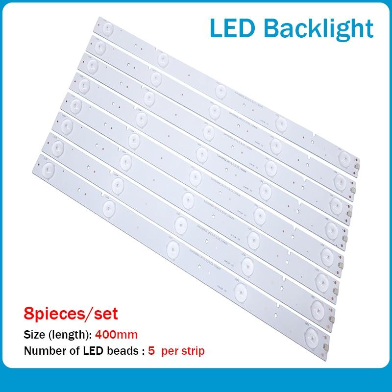 New Kit 8 PCS 5LED 400mm LED Strip For NS-40D420NA16 SVH390A06 Samsung 2013CHI400 3328N1 05
