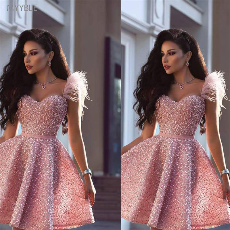 MYYBLE 2020 Sexy Arabic Dubai Style Wear Homecoming Prom Party Gown Graduation Plus Size