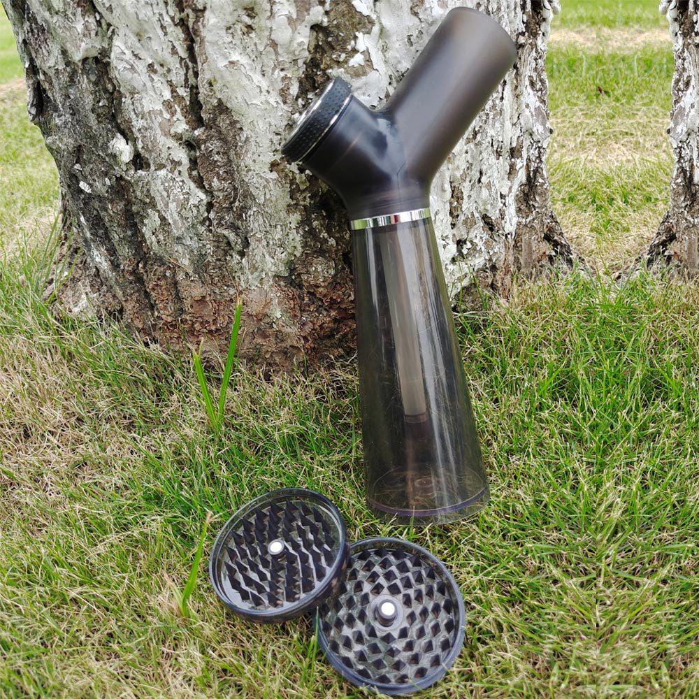 Acrylic Waterpipe With Grinder Hookah Shisha Water Bong Herb Tobacco Grinders for Smoking Weed 1